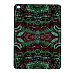 Tribal Ornament Pattern In Red And Green Colors Apple Ipad Air 2 Hardshell Case by dflcprints