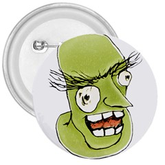 Mad Monster Man With Evil Expression 3  Button by dflcprints
