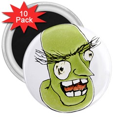 Mad Monster Man With Evil Expression 3  Button Magnet (10 Pack) by dflcprints