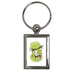 Mad Monster Man With Evil Expression Key Chain (rectangle) by dflcprints