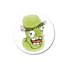 Mad Monster Man With Evil Expression Magnet 3  (round) by dflcprints