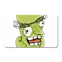 Mad Monster Man With Evil Expression Magnet (rectangular) by dflcprints