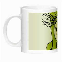 Mad Monster Man With Evil Expression Glow In The Dark Mug by dflcprints