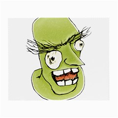 Mad Monster Man With Evil Expression Glasses Cloth (small, Two Sided) by dflcprints