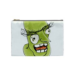 Mad Monster Man With Evil Expression Cosmetic Bag (medium) by dflcprints