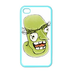 Mad Monster Man With Evil Expression Apple Iphone 4 Case (color) by dflcprints