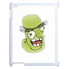 Mad Monster Man With Evil Expression Apple Ipad 2 Case (white) by dflcprints
