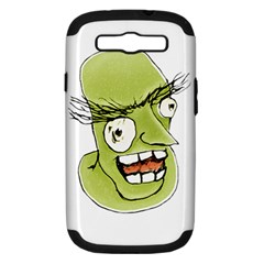 Mad Monster Man With Evil Expression Samsung Galaxy S Iii Hardshell Case (pc+silicone) by dflcprints