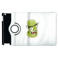 Mad Monster Man With Evil Expression Apple Ipad 3/4 Flip 360 Case by dflcprints