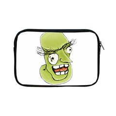Mad Monster Man With Evil Expression Apple Ipad Mini Zippered Sleeve by dflcprints