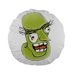 Mad Monster Man With Evil Expression 15  Premium Flano Round Cushion  by dflcprints