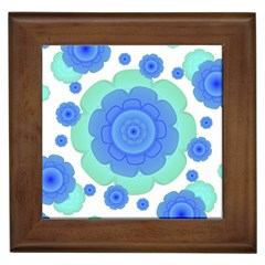 Retro Style Decorative Abstract Pattern Framed Ceramic Tile by dflcprints