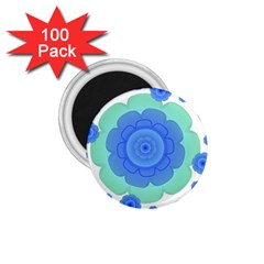 Retro Style Decorative Abstract Pattern 1 75  Button Magnet (100 Pack) by dflcprints