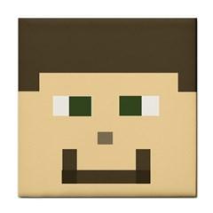 Custom Block Head Ceramic Tile by BlockCrafts