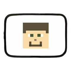 Custom Block Head Netbook Sleeve (medium) by BlockCrafts
