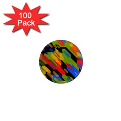 Colorful Shapes On A Black Background 1  Mini Magnet (100 Pack)  by LalyLauraFLM