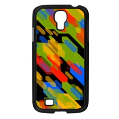 Colorful Shapes On A Black Background Samsung Galaxy S4 I9500/ I9505 Case (black) by LalyLauraFLM