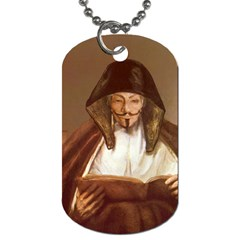 Anonymous Reading Dog Tag (one Sided) by AnonMart