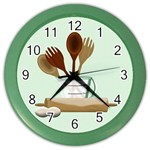 Kitchen Clock Green - Color Wall Clock