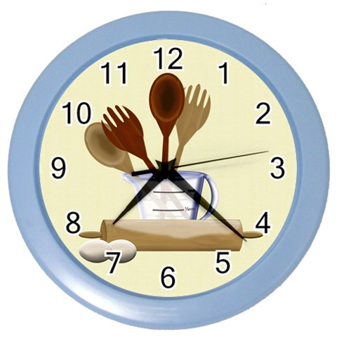 Kitchen Clock Yellow By Chere s Creations   Color Wall Clock   L4sulk2fv3nq   Www Artscow Com Front