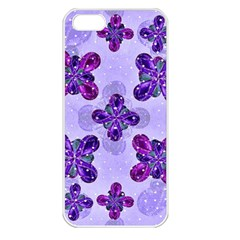 Deluxe Ornate Pattern Design In Blue And Fuchsia Colors Apple Iphone 5 Seamless Case (white) by dflcprints