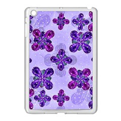 Deluxe Ornate Pattern Design In Blue And Fuchsia Colors Apple Ipad Mini Case (white) by dflcprints