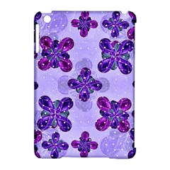 Deluxe Ornate Pattern Design In Blue And Fuchsia Colors Apple Ipad Mini Hardshell Case (compatible With Smart Cover) by dflcprints