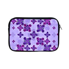 Deluxe Ornate Pattern Design In Blue And Fuchsia Colors Apple Ipad Mini Zippered Sleeve by dflcprints