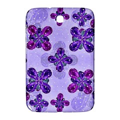 Deluxe Ornate Pattern Design In Blue And Fuchsia Colors Samsung Galaxy Note 8 0 N5100 Hardshell Case  by dflcprints