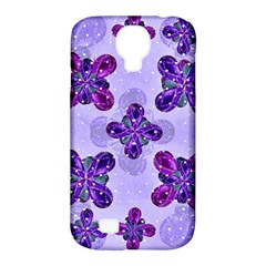 Deluxe Ornate Pattern Design In Blue And Fuchsia Colors Samsung Galaxy S4 Classic Hardshell Case (pc+silicone) by dflcprints