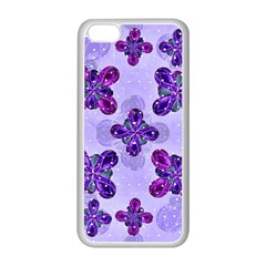 Deluxe Ornate Pattern Design In Blue And Fuchsia Colors Apple Iphone 5c Seamless Case (white) by dflcprints