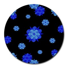 Floral Print Modern Style Pattern  8  Mouse Pad (round) by dflcprints