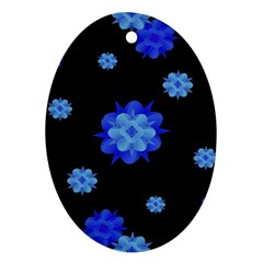 Floral Print Modern Style Pattern  Oval Ornament by dflcprints
