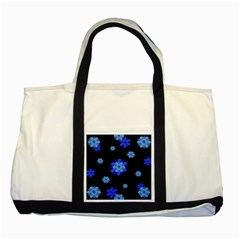 Floral Print Modern Style Pattern  Two Toned Tote Bag by dflcprints