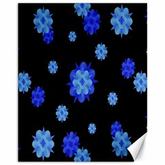 Floral Print Modern Style Pattern  Canvas 11  X 14  (unframed) by dflcprints