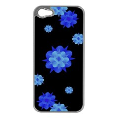 Floral Print Modern Style Pattern  Apple Iphone 5 Case (silver) by dflcprints