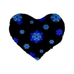 Floral Print Modern Style Pattern  16  Premium Heart Shape Cushion  by dflcprints
