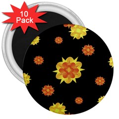Floral Print Modern Style Pattern  3  Button Magnet (10 Pack) by dflcprints