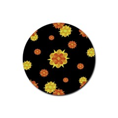 Floral Print Modern Style Pattern  Drink Coasters 4 Pack (round) by dflcprints