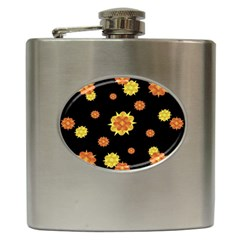 Floral Print Modern Style Pattern  Hip Flask by dflcprints