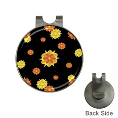 Floral Print Modern Style Pattern  Hat Clip With Golf Ball Marker by dflcprints