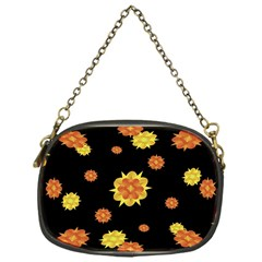 Floral Print Modern Style Pattern  Chain Purse (one Side) by dflcprints