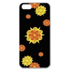 Floral Print Modern Style Pattern  Apple Seamless Iphone 5 Case (clear) by dflcprints
