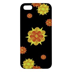 Floral Print Modern Style Pattern  Apple Iphone 5 Premium Hardshell Case by dflcprints