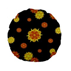 Floral Print Modern Style Pattern  15  Premium Flano Round Cushion  by dflcprints
