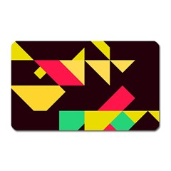 Shapes In Retro Colors 2 Magnet (rectangular) by LalyLauraFLM