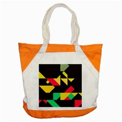 Shapes In Retro Colors 2 Accent Tote Bag by LalyLauraFLM