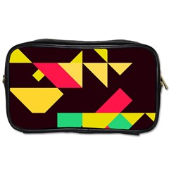 Shapes In Retro Colors 2 Toiletries Bag (two Sides) by LalyLauraFLM