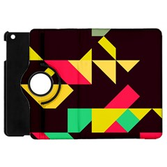 Shapes In Retro Colors 2 Apple Ipad Mini Flip 360 Case by LalyLauraFLM