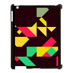 Shapes In Retro Colors 2 Apple Ipad 3/4 Case (black) by LalyLauraFLM